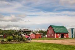 Вниз на ферме стоковое фото