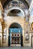 Внутренний клирос монашек монастыря Санта Giulia стоковое изображение