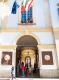 Вход к университету Павии на Str Nuova Corso стоковое изображение