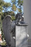 Высекаенный безликий надгробный камень ангела, Иллинойс стоковые фото