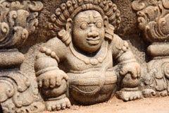 Высекать шагов moonstone, Anuradhapura камня Bahirawa, Шри-Ланка стоковая фотография rf