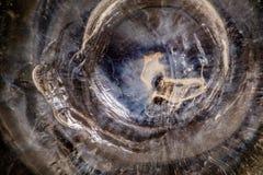 Высушенный клей кремния в макросе стоковые фотографии rf
