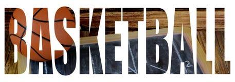 Вырез текста заполненный с изображением баскетбола и доски стоковая фотография rf