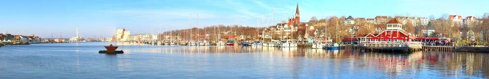 Высокая панорама разрешения различных городов как Гамбург Flensburg и Вена стоковое фото rf