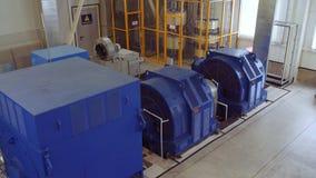 Высоковольтный электрический двигатель на промышленном предприятии Станция наивысшей мощности высокое напряжение 4K видеоматериал