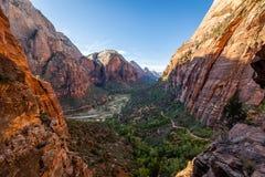 Высочество национального парка Сион стоковая фотография