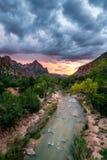 Высочество национального парка Сион стоковое изображение