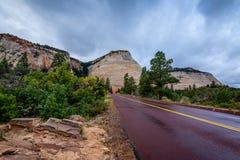 Высочество национального парка Сион стоковое фото rf