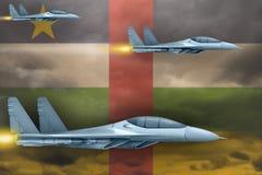 Военновоздушные силы Центральноафриканской Республики поражают концепцию Самолеты воздуха атакуют на предпосылку флага Центрально бесплатная иллюстрация