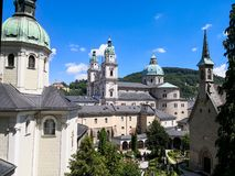 воздушный взгляд salzburg стоковые фотографии rf
