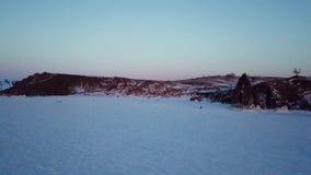Воздушный ландшафт в России во время зимы акции видеоматериалы