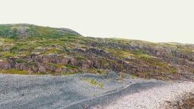 Воздушный ландшафт северной природы осени Полуостров Kola в России около городка Kandalaksha видеоматериал