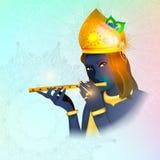 Воплощение изображения бога Krishna Индуизм вероисповедание вектор бесплатная иллюстрация