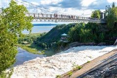 Водопады Montmorency от верхней части, Квебека стоковое фото