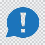 Восклицательный знак в пузыре речи Знак предупреждения или внимания также вектор иллюстрации притяжки corel иллюстрация вектора