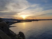 Восход солнца в almeria стоковая фотография rf