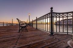 Восход солнца над пристанью 7 Сан-Франциско стоковое изображение