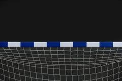 Ворота для futsal или гандбол в спортзале Деталь рамки и сети ворот Внешняя спортивная площадка футбола или гандбола стоковые изображения