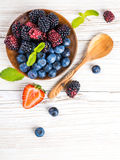 �unch of wild berries and mint Royalty Free Stock Photo