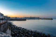 Гавань Корнуолл Англия Великобритания Newquay удя стоковая фотография