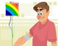Гай и покрашенное переливание крови стоковые фото