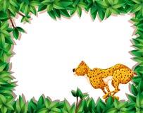 Гепард в рамке природы иллюстрация вектора