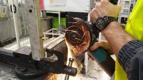 Гибкий трубопровод в работе стоковое изображение