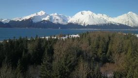 Глушь зимы на старой мельнице в Seward Аляске акции видеоматериалы