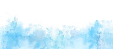 Граница акварели изолированная на белой, художественной предпосылке стоковая фотография rf