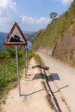 Граница тайских и Мьянмы вызвала пропуск дороги mittraphap на kanchanaburi стоковое изображение