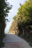 Граница тайских и Мьянмы вызвала пропуск дороги mittraphap на kanchanaburi стоковые изображения