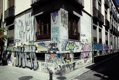 Граффити на строя угле стоковая фотография rf