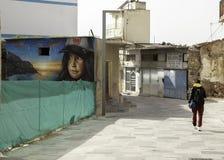 Граффити девушки с полной крышкой стоковое изображение