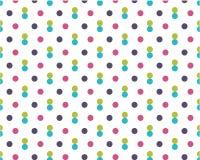 Грязные покрашенные точки на белой предпосылке Пурпурная, голубая, желтая праздничная округлая форма картины иллюстрация штока
