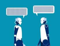 Говорить 2 роботов Иллюстрация вектора дела концепции технология автоматизации бесплатная иллюстрация