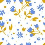 Голубая картина цветков для знамени весны иллюстрация штока