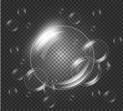 голубой tonality структуры мыла пузырей иллюстрация вектора