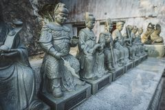 Гонконг, ноябрь 2018 - 10 тысяч человек жирное Sze монастыря Buddhas стоковые фотографии rf