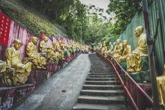 Гонконг, ноябрь 2018 - 10 тысяч человек жирное Sze монастыря Buddhas стоковое фото