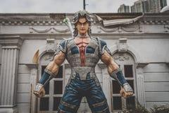 Гонконг - статуя характера аниме стоковые фотографии rf