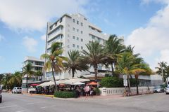 Гостиница Виктор на приводе океана в Miami Beach, Флориде стоковая фотография