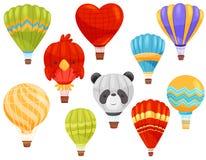 Горячая концепция воздушного шара Иллюстрация вектора плоская бесплатная иллюстрация