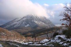 Горы в зиме стоковое фото rf
