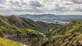 Горы Verdugo, Burbank, Калифорния видеоматериал