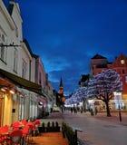 Город к ноча стоковое фото rf