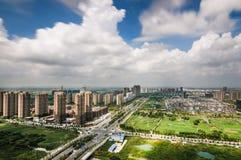 Город под конструкцией стоковая фотография rf