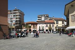 Городская площадь Stresa, Италия стоковое изображение