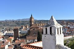Город Guadix от дома пещеры крыши стоковые фотографии rf