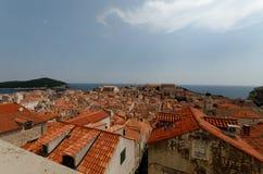 городок dubrovnik старый стоковое изображение