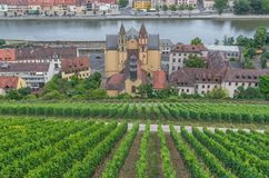 Городок Wurzburg старый, место всемирного наследия ЮНЕСКО стоковая фотография rf